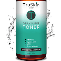 DAILY Facial SUPER Toner for All Skin Types, Contains Glycolic Acid, Vitamin C, Witch