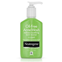 Neutrogena Oil-Free Acne and Redness Facial Cleanser, Soothing Face Wash with Salicylic Acid Acne Medicine, Aloe, and C